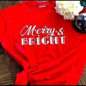 ♥️🌲 Merry & Bright T-shirt 🌲♥️